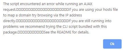 Screenshot der Fehlermeldungen im Search-Replace-DB-Tool, wenn die Datenbank groß ist